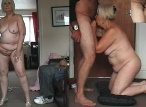67 yo Grandmother dancing naked, pink..