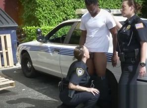 Kinky cops arrest a ebony stud to plow