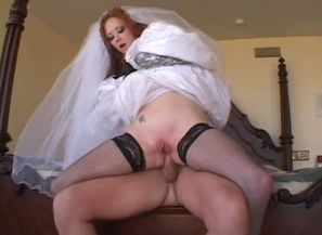 Here jizzes the bride