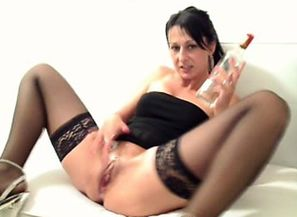 Sizzling black-haired mummy amber r is..