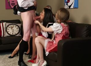 Cfnm female domination stunners jacking