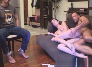Cuckolding girlfriend smashes in front..