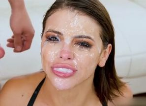 Adriana chechik mass ejaculation spunk..