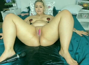 Fat unload , light-haired fantastic dame