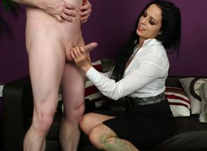 CFNM mummy blows jizz-shotgun with..