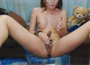 Provocative dirty lady-man bare And Wank